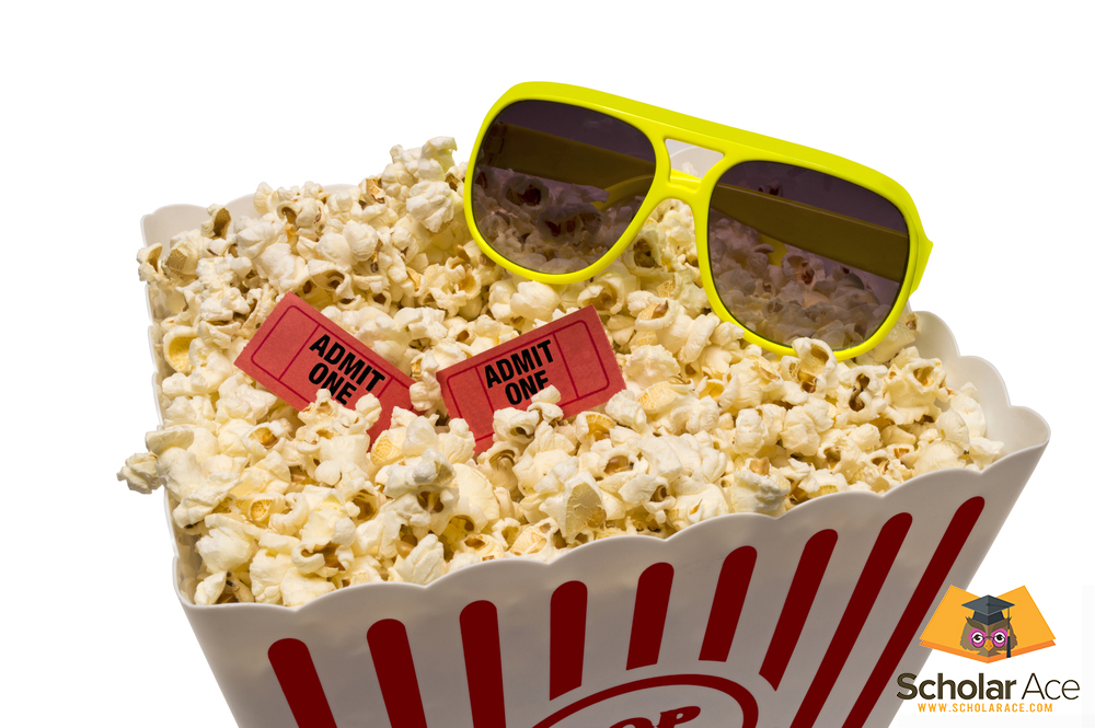 movie review popcorn box