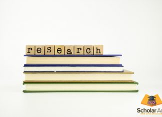 research word written on books