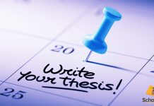 writing your thesis and follow deadline