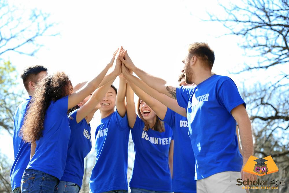 group of people enjoy internship abroad as volunteers