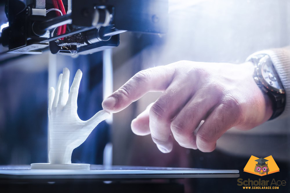 UAE based innovation projects showing hand with 3d printed hand