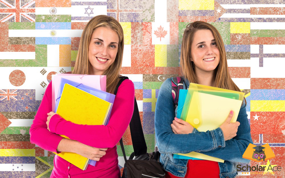 students studying abroad in different countries